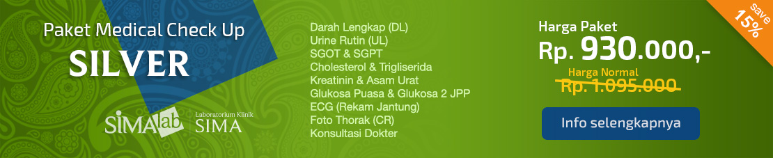 Paket Medical Check Up SILVER (hemat 15%)