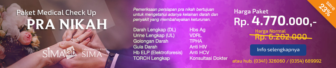 Paket Medical Check Up PRA NIKAH